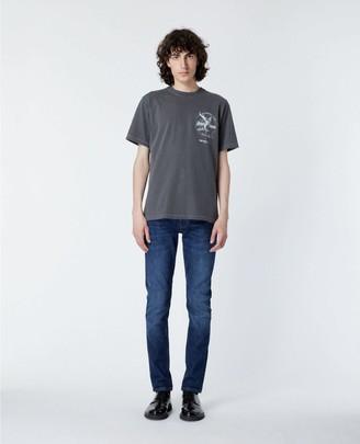 The Kooples Black David Bowie printed cotton T-shirt