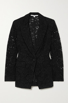 Veronica Beard Long And Lean Dickey Cotton-blend Corded Lace Blazer - Black