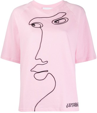 Moschino Cornely-embroidered short-sleeve T-shirt