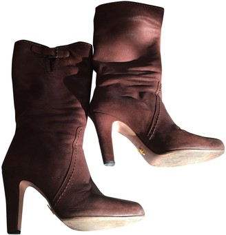 Prada Camel Leather Boots