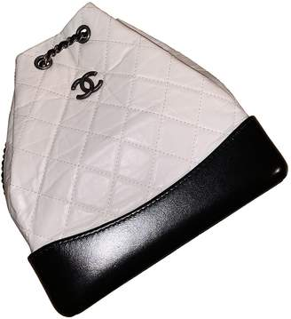 Chanel Gabrielle White Leather Backpacks