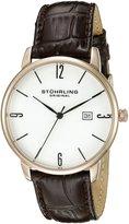 Stuhrling Original Men's 997L.04 Ascot Analog Display Quartz Brown Watch