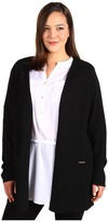 Calvin Klein Plus Size Cardigan w/ Hardware (Black) - Apparel