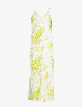 AllSaints Melody Riyaz floral-print crepe midi dress
