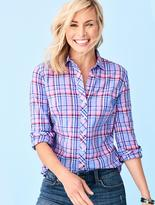 Talbots The Classic Casual Shirt - Cafe Plaid