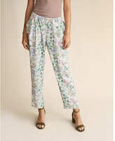 Express mid rise pleated soft twill ankle pant