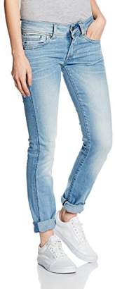 G Star Women's Midge Saddle Mid Rise Straight Leg Jean in Brantley Stretch