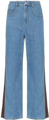 Sjyp Panelled Flare Jeans