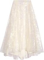 Tory Burch Gretchen metallic fil coupé midi skirt