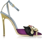 DSQUARED2 Point-Toe Embellished Satin Pumps
