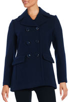 Kate Spade Wool-Blend Double-Breasted Peacoat