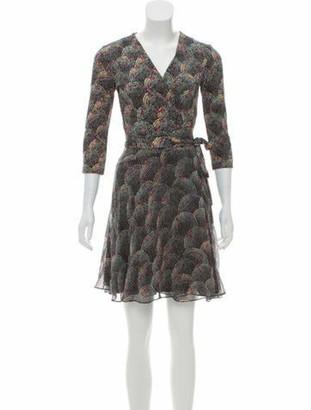 Diane von Furstenberg Polka Dot Wrap Dress Black