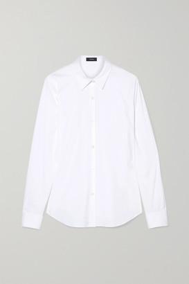 Theory Tenia Stretch Cotton-blend Poplin Shirt - White
