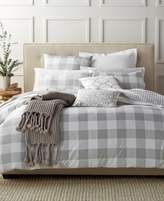 Charter Club Damask Designs Gingham Dove King Comforter Set
