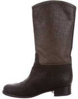 Chanel Bicolor Mid-Calf Boots