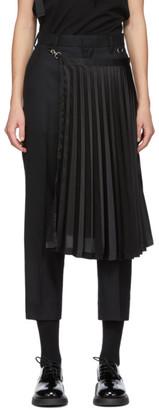 Noir Kei Ninomiya Black Satin Panel Trousers