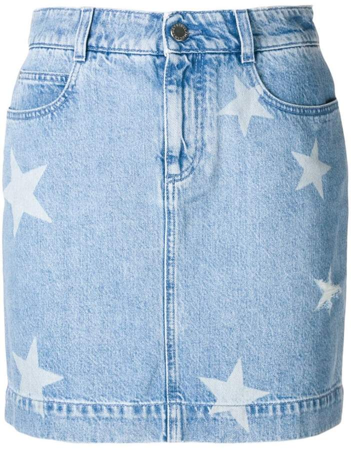 Stella McCartney star detail denim skirt