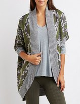 Charlotte Russe Aztec Dolman Cocoon Cardigan
