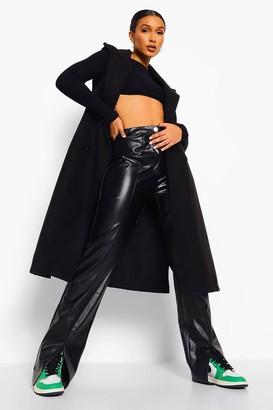 boohoo Belted Wool Look Sleeveless Midi Coat