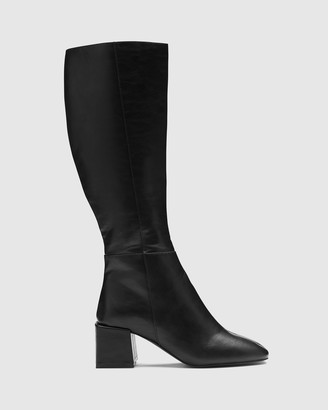 Therapy Women's Black Long Boots - Wolf - Size One Size, 8 at The Iconic