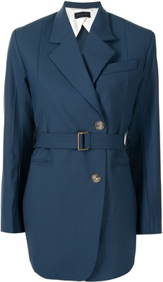 Eudon Choi Belted Double-Breasted Blazer