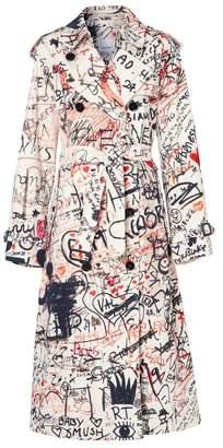 Burberry Graffiti Print Trench Coat