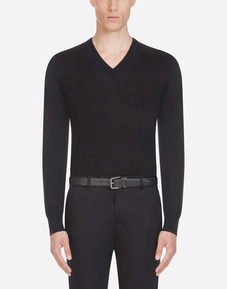 Dolce & Gabbana V-Neck Sweater In Cashmere