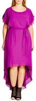 City Chic Plus Size Women's 'Dream Plain' High/low Maxi Dress