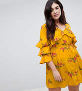Influence Plus Floral Ruffle Detail Dress