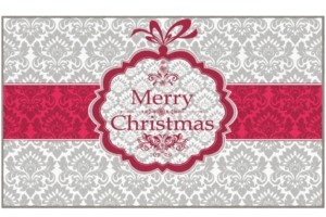 """Mohawk Christmas Damask Accent Rug, 24"""" x 40"""" Bedding"""