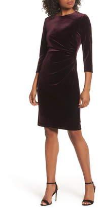Eliza J Velvet Sheath Cocktail Dress