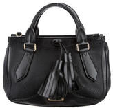 Burberry Leather Tassel-Accented Satchel