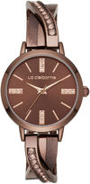 Liz Claiborne Womens Brown Bangle Watch-Lc1332