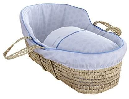 Clair De Lune High Top Palm Moses Basket (Blue, Speckles)