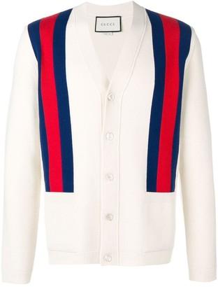 Gucci Shoulder Stripes Cardigan