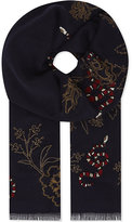 Janavi Snake embroidered cashmere scarf
