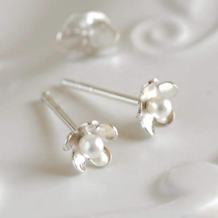 4dac5bfcf Pearl Flower Stud Earring - ShopStyle UK