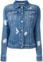 Versus distressed denim jacket - women - Cotton/metal - 40