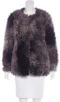 Smythe Faux-Shearling Short Coat