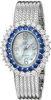Adee Kaye Women's AK2423-BU GLAM COLLECTION Analog Display Analog Quartz Silver Watch