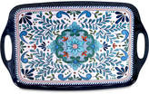 Certified International Talavera Melamine Rectangular Handled Tray