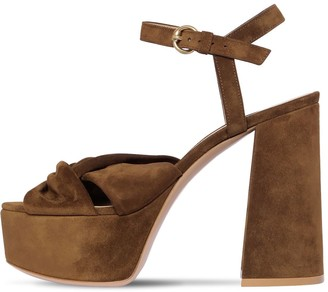 Gianvito Rossi 120mm Suede Platform Sandals