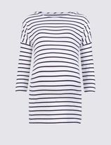 Marks and Spencer Maternity Striped Feeding T-Shirt with Modal
