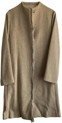 Henry Cotton Camel Wool Coat for Women