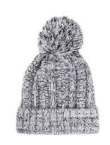 Quiz Grey Knit Pom Pom Hat