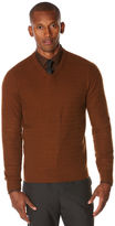 Perry Ellis Solid Textured V-Neck Sweater