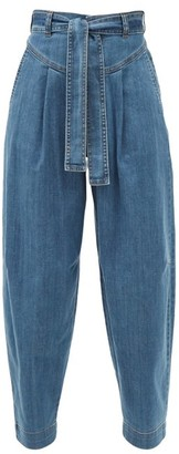 See by Chloe High-rise Tapered-leg Jeans - Denim
