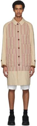 Junya Watanabe Beige Linen Striped Coat
