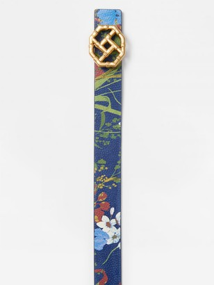 J.Mclaughlin Ruby Reversible Leather Belt in Midnight Floral