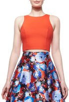 Sachin + Babi Sleeveless Cutout-Back Crop Top